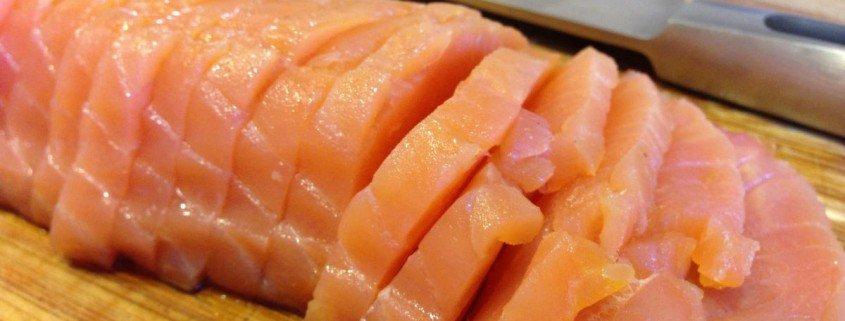 Pasta carbonara con salmón (6)