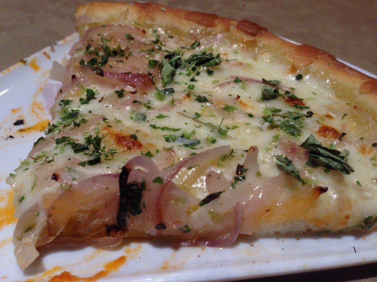 Pizza fugazza con ques...
